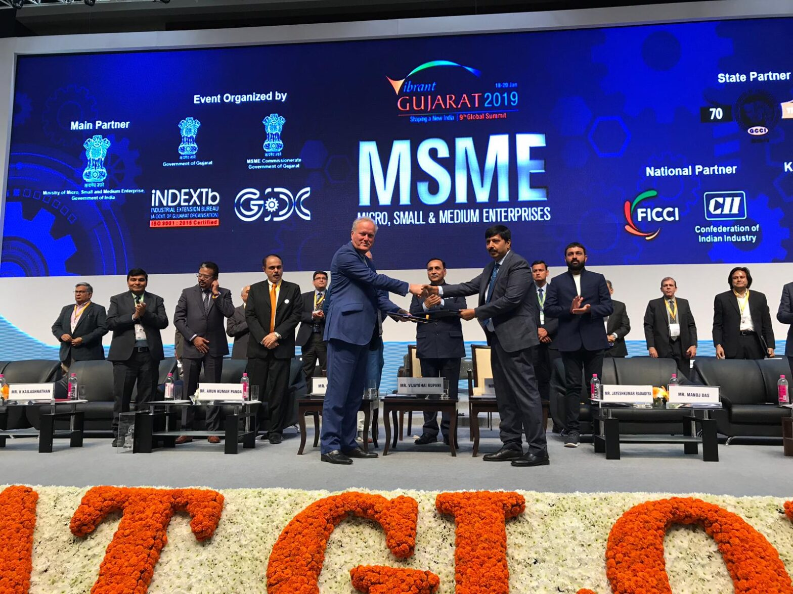 CWEIC Sign MoU at Vibrant Gujarat MSME Conference