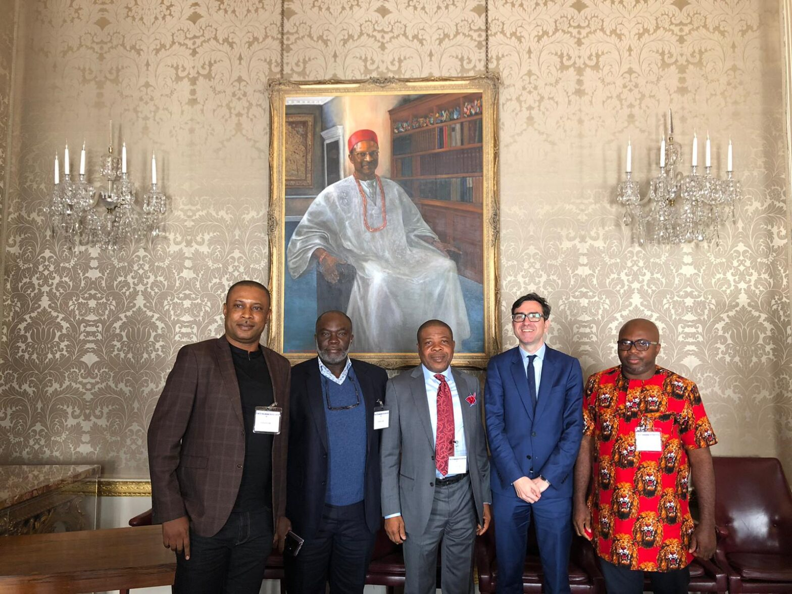 Welcoming in-coming Imo State Governor to Marlborough House, April 2019
