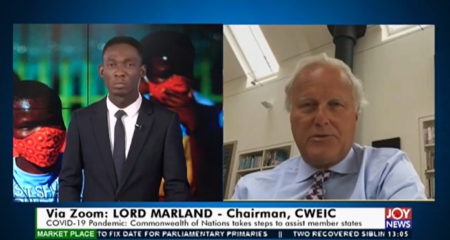 Lord Marland Interviewed on Joy News in Ghana Discussing COVID-19 and the Commonwealth