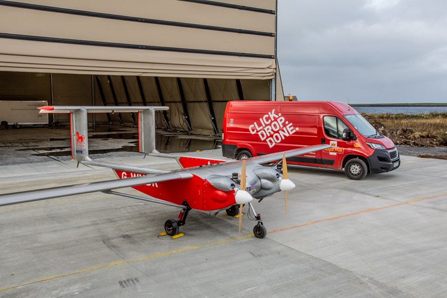 Countdown to COP – Royal Mail trials delivering 100% of remote community's mail by lower emission drone
